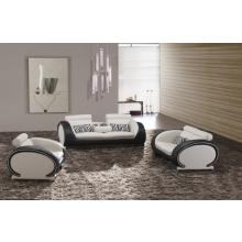 816 Modern Black and White Leather Sofa Set