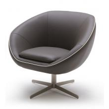 Divani Casa A768 - Modern Leather Swivel Lounge Chair
