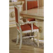 Modrest Rossella - Italian Classic Beige w/ Salmon Fabric Dining Arm Chair
