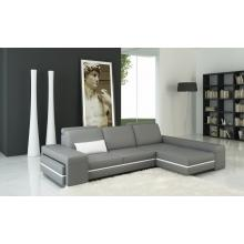 Divani Casa 5070B Modern Grey and White Leather Sectional Sofa