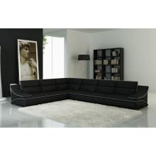 Divani Casa 5076C Black Bonded Leather Sectional Sofa