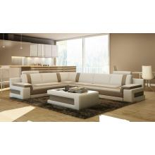 Divani Casa 5083 Modern Bonded Leather Sectional Sofa w/ Coffee Table