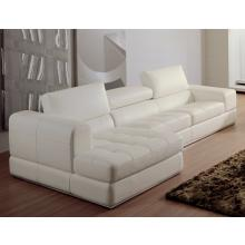Divani Casa 956 - Modern White Bonded Leather Sectional Sofa
