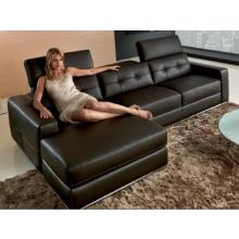 Divani Casa 956 - Modern Black Full leather Sectional Sofa