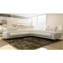 Divani Casa 989 Modern White Italian Leather Sectional Sofa
