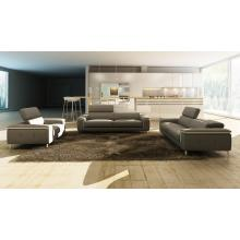 Divani Casa 990 Modern Grey and White Italian Leather Sofa Set