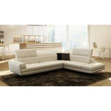 Divani Casa 991 Modern White Italian Leather Sectional Sofa