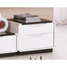 Modrest 2016 Modern White and Black 2-Drawer Nightstand