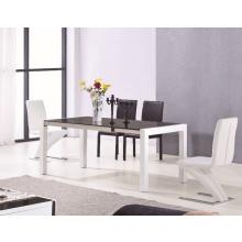 Modrest 2032 Modern White and Black Dining Table