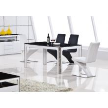 Modrest 2068 Modern White and Black Dining Table