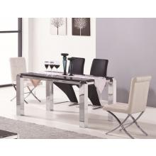 Modrest 2303 Modern Stainless Steel and Marble Dining Table