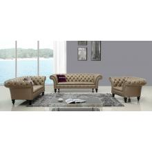 Divani Casa D6036 Transitional Bronze Shiny Italian Leather Sofa Set