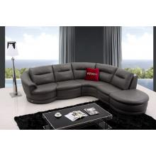 Divani Casa K8020 Modern Dark Grey Leather Sectional Sofa