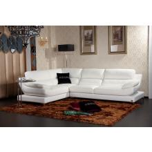 Divani Casa K8448 Modern White Eco-Leather Sectional Sofa