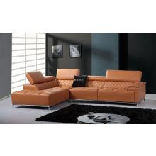 Divani Casa K8482 Modern Orange Leather Sectional Sofa