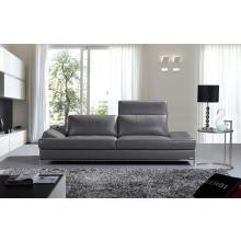 Divani Casa K8484 Modern Dark Grey Italian Leather Sofa