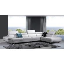 Divani Casa K8488 Modern Ivory Leather Sectional Sofa