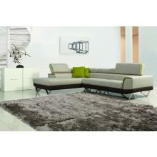 Divani Casa 1361 - Modern Fabric Sectional Sofa with Retractable Headrests