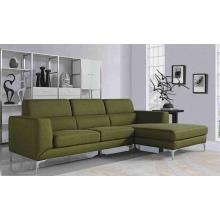 Divani Casa Verdant Modern Green Fabric Sectional Sofa