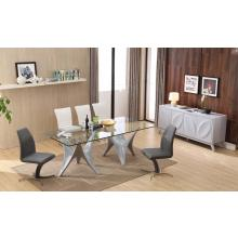 Modrest T120901 Modern Glass Top w/ Grey Base Dining Table