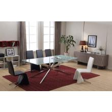 Modrest T8968 Modern Cracked Glass Rectangular Dining Table
