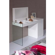 Modrest Volare - Modern White Floating Glass Vanity w Storage
