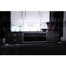 A&X Leopold Modern Black Crocodile TV Stand