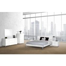 Modrest Bravo Modern White Twin Bedroom Set