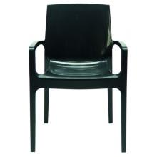 Cream - Modern Glossy Anthracite Italian Dining Chair