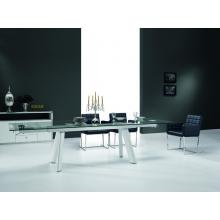 Modrest Draft Modern Extendable Glass Dining Table
