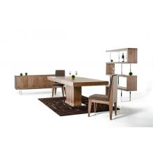Modrest Durham Modern Walnut Extendable Dining Table