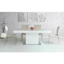 Modrest Durham Modern White Lacquer Extendable Dining Table