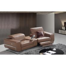 Divani Casa E9048 Modern Brown Eco-Leather Sectional Sofa w/Recliners
