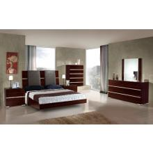 Modrest Excalibur Italian Modern Ebony Lacquer Bedroom Set