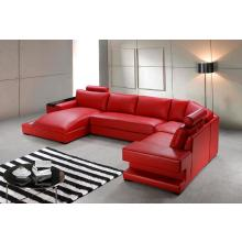 Divani Casa Orion - Modern Bonded Leather Sectional Sofa With Light