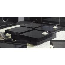 A&X Modern Crocodile Black Coffee Table 8879A