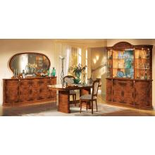 Modrest Flora Walnut Traditional 8-Piece Dining Set Made in Italy