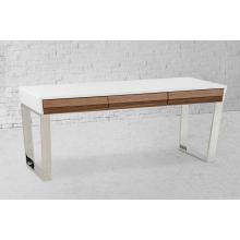Modrest Futuro Contemporary White and Walnut Office Desk