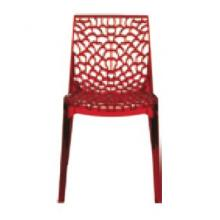 Modrest Gruvyer Modern Transparent Red Italian Dining Chair