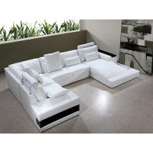 Divani Casa Diamond - Modern Leather Sectional Sofa With Light