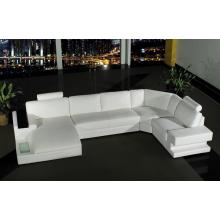 Divani Casa Orion - Modern Leather Sectional Sofa With Light