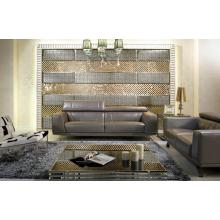 Divani Casa Brustle - Modern Grey Shiny Leather Sofa Set