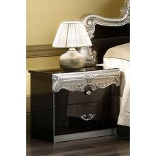 Barocco - Traditional Glossy Black Nightstand