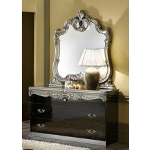 Barocco - Traditional Glossy Black Single Dresser