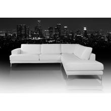 Dima Mirage Modern White Leather Sectional Sofa - Made In Italy