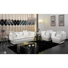 Divani Casa D6002 Modern White Pearl Sofa and 2 Chairs Set