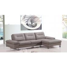 Divani Casa 969B Modern Taupe Leather Sectional Sofa