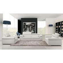 8020 Modern White Bonded Leather Sofa Set