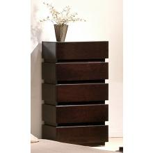 Modrest Trend Modern Wenge 5-Drawer Bedroom Chest