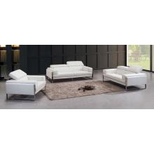 Divani Casa 808 Modern White Leather Sofa Set